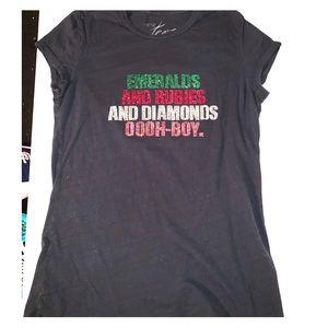 Cache Rhinestone Graphic T-Shirt
